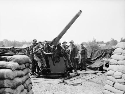 Image result for ww2 british 3 inch artillery gun